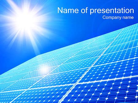 solar panel and sun powerpoint template backgrounds id