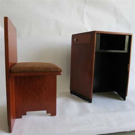 Small Desk And Chair by Small American Deco Writing Desk And Chair Modernism