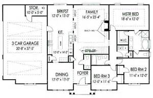 1900 house plans 1900 square feet 3 bedrooms 2 batrooms 2 parking space