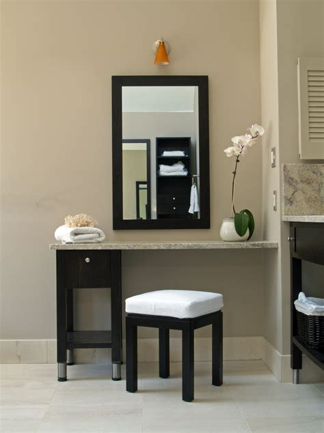 Cosmetic Vanity by Hotel Style Bathroom Vanity Open Shelving Line Renovation On The Level