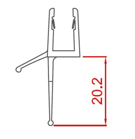 swing documentation door drip seal 1m various showers athena bathrooms