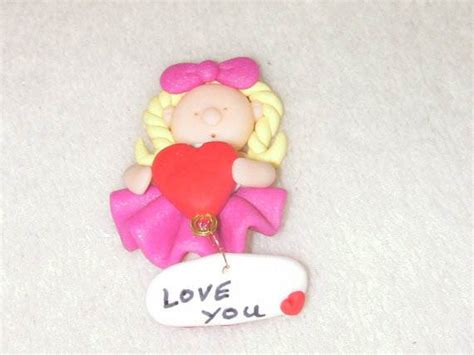 handmade polymer clay valentines from the