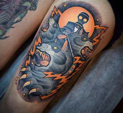 70 thigh tattoos for men manly ink designs