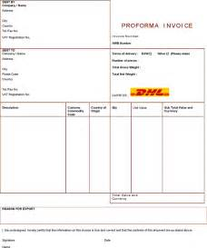 dhl proforma invoice template the dhl proforma invoice can help you make a professional