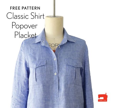 pattern for shirt placket free popover placket and tutorial blog oliver s