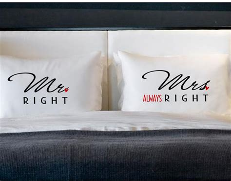 Mr Right Mrs Always Right Pillow mr right mrs always right pillow cases for pillows weddings