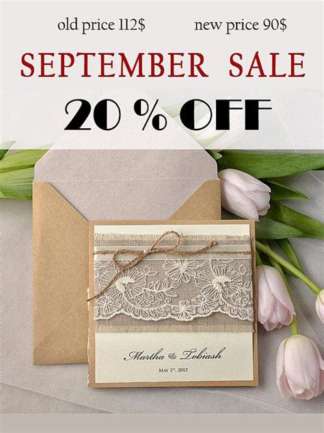 Wedding Invitations Sale by Sale Rustic Wedding Invitation Lace Wedding Invites