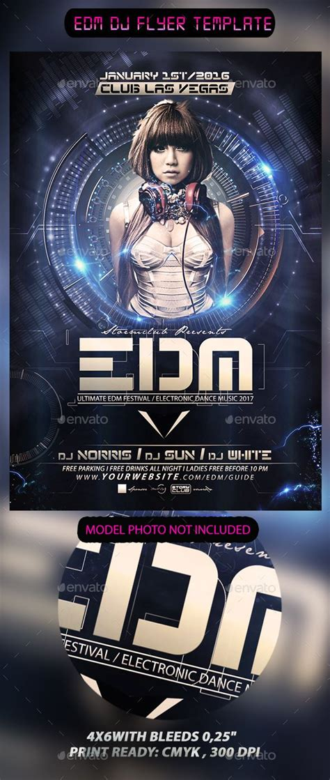 dj templates edm dj flyer template flyer template edm and dj