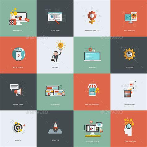 icon design concept set of flat design concept icon business icons