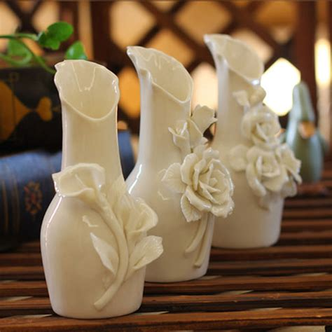 Decorative Vases With Flowers sell handmade 3pcs decorative ceramic vase