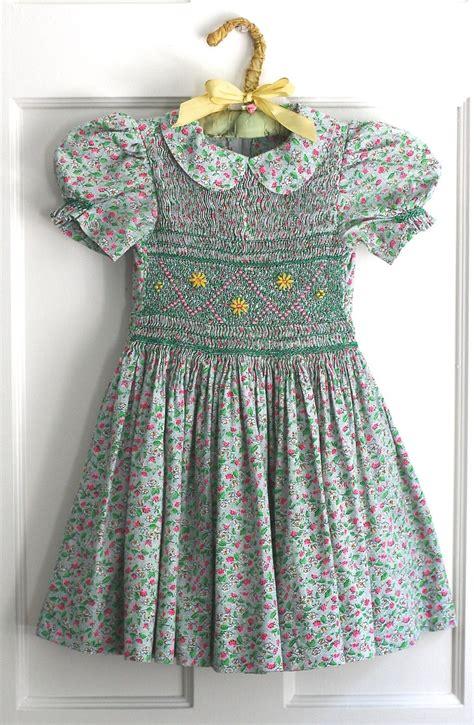 Handmade Smocked Dresses - vintage smocked dress heirloom