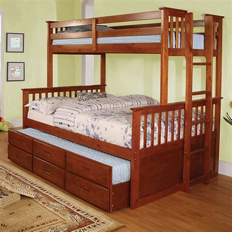 Furniture Stores That Sell Bunk Beds Furniture Of America Bunk Bed Trundle Sold Separately Cm Bk458f Oak