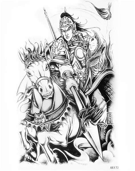Lc853 Sketch Handsome Zhao Yun Painting Temporary Tatto Sticker popular zhao yun buy cheap zhao yun lots from china zhao yun suppliers on aliexpress