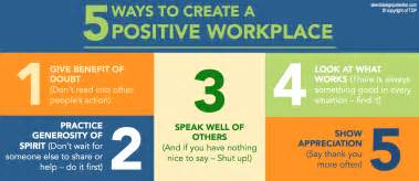Be the catalyst to the positive workplace we wish for here are 5 ways