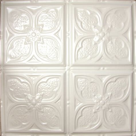 Decorative Ceiling Tile by 1217 Tin Ceiling Tile White Classic Tom S Flower