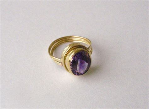 rings gold jewelry rs 131amethyst 18kt gold by sylvia