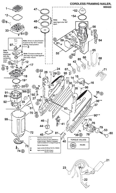 paslode framing nailer parts diagram paslode parts schematics pictures to pin on