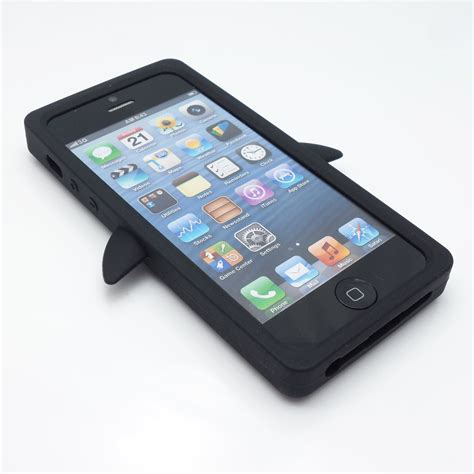 Iphone 5 5s Se 3d Silicone Soft Keren Armor Bumper Cover Sarung 3d penguin soft thick silicone impact shock cover for