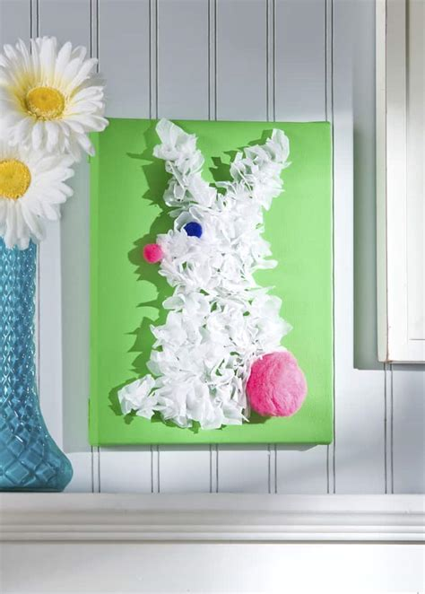 crafts canvas easter craft for bunny canvas mod podge rocks