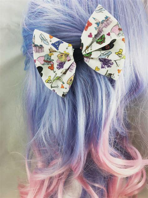 doodle hair bow fantasyland fairytale daydream doodles fabric hair bow