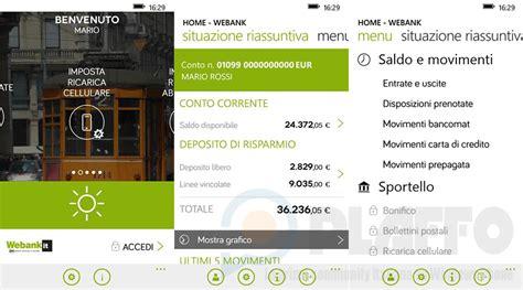 popolare di webank l app ufficiale webank arriva su windows phone