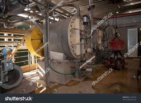 paper and pulp mill stock paper and pulp mill pulper area stock photo 41344783