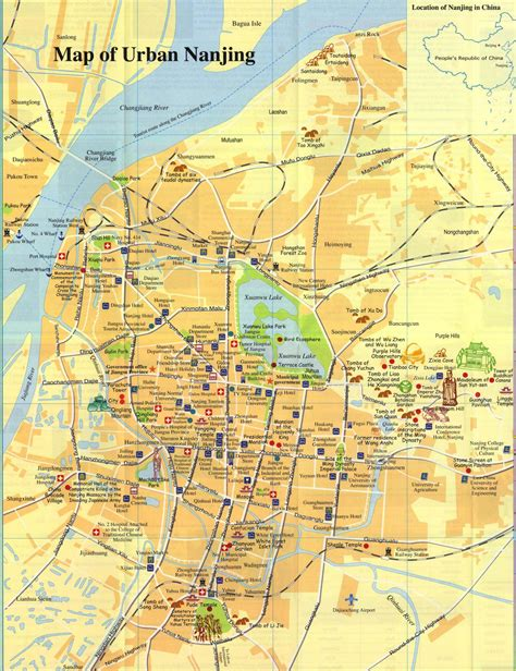 Nanjing Map, Map of Nanjing China, Nanjing City, Tourist Map