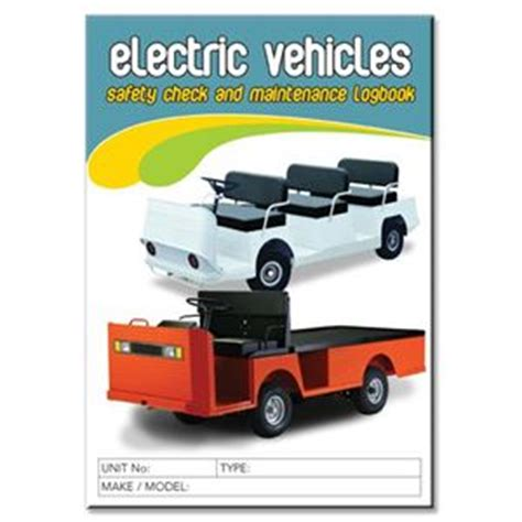 Background Check After Starting Electric Vehicles Safety Check Logbook Buy Commercial Logbook Personalised