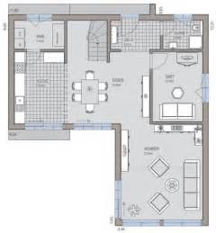 modernes haus l form bauhaus 174 grundriss erdgeschoss wohnen