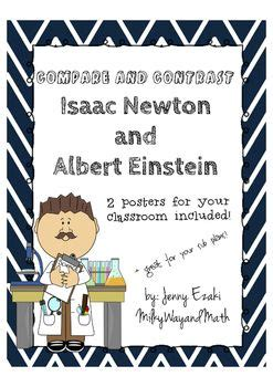isaac newton biography poster compare and contrast albert einstein and isaac newton