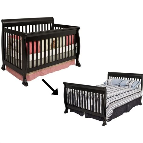 Crib Convertible Toddler Bed Davinci Kalani 4 In 1 Convertible Wood Baby Crib With Toddler Rail In 168637