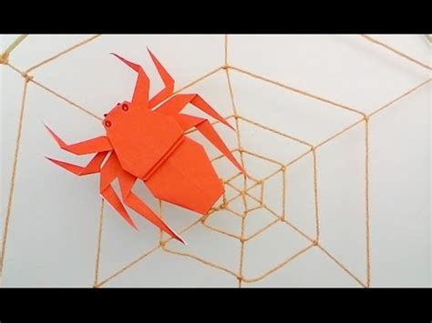 Simple Origami Spider - jumping origami spider doovi