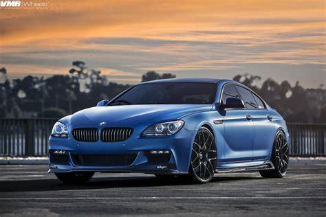 matte blue matte blue bmw 6 series gran coupe on vmr wheels