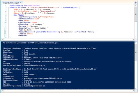 Adding Multiple Users To Active Directory Panda Tech Llc Active Directory Import Csv Template