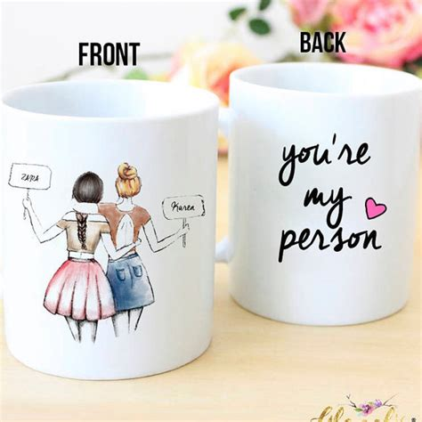 personalized best friend gift you re my person by glacelis