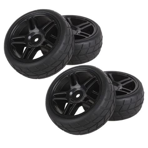 Rc 110 Car On Road Racing Flat Wheel Tyre Tires Fit Hsp Hpi 9058 bqlzr durable rubber hub wheel tires 1 10 on road racing car rc pack of 4 black rc hobby store