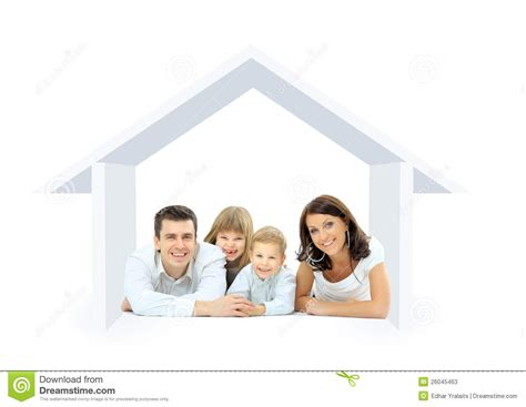 happy family in a house stock illustration image of