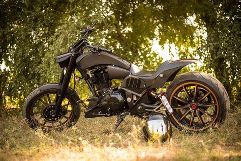modified bullet bikes chopped royal enfield thunderbird 350 raven custom