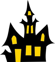 Haunted House Outline haunted house clip at clker vector clip royalty free domain