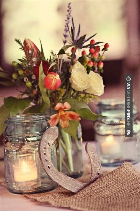 100 Best Western Horseshoes Wedding Theme Images On Western Wedding Centerpieces For Tables