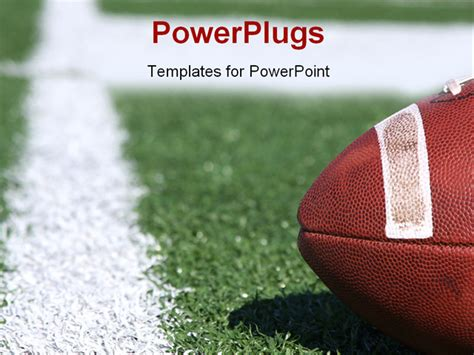 football powerpoint template american collegiate football on a sports field powerpoint