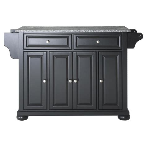 alexandria kitchen island alexandria solid granite top kitchen island black dcg