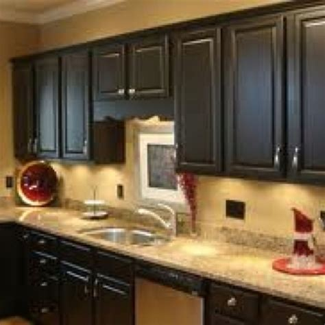 tan kitchen cabinets black cabinets and tan walls kitchen ideas pinterest