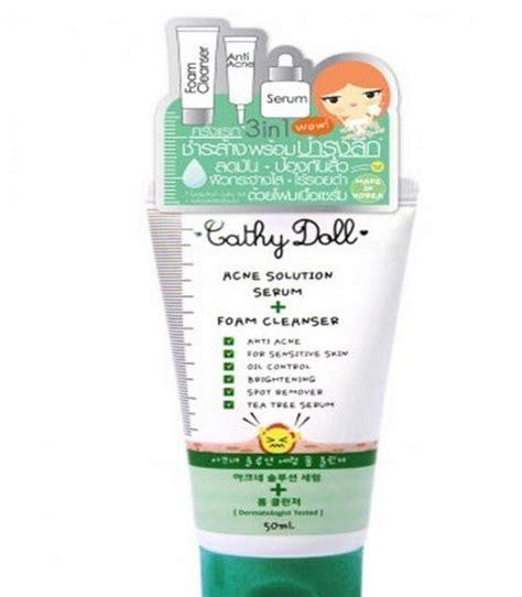 Cathy Doll Acne Solution Serum Foam Cleanser Diskon 1 karmart cathy doll 3 in 1 acne solution serum foam