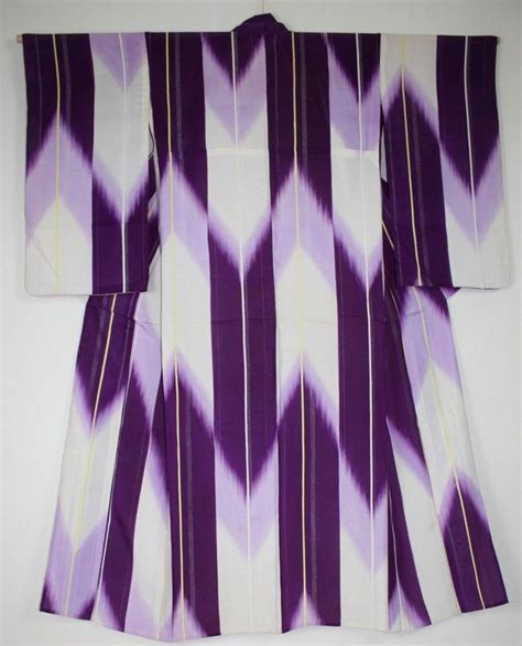 Ro Kimono Top japanese vintage impressive charming meisen ro silk kimono pattern of yabane silk kimono