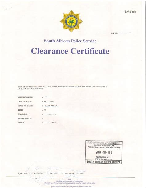 How Do I Get The Clearance Of No Criminal Record Saps Criminal Clearance Certificate 3 5 Weeks Nevetec