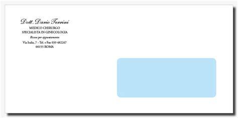 intestazione buste lettere sta buste con finestra personalizzate per medici
