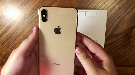 iphone xs max gold color gb unboxing shot  iphone  youtube