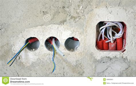 coloured electric wires stock photo image 40663661