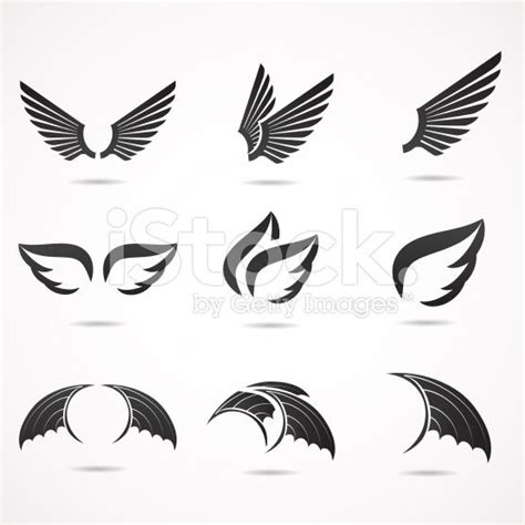 Fly And Be Free With Silver Service Wings Necklace From Direct by Vector Illustration Icon Set Vector And Royalty